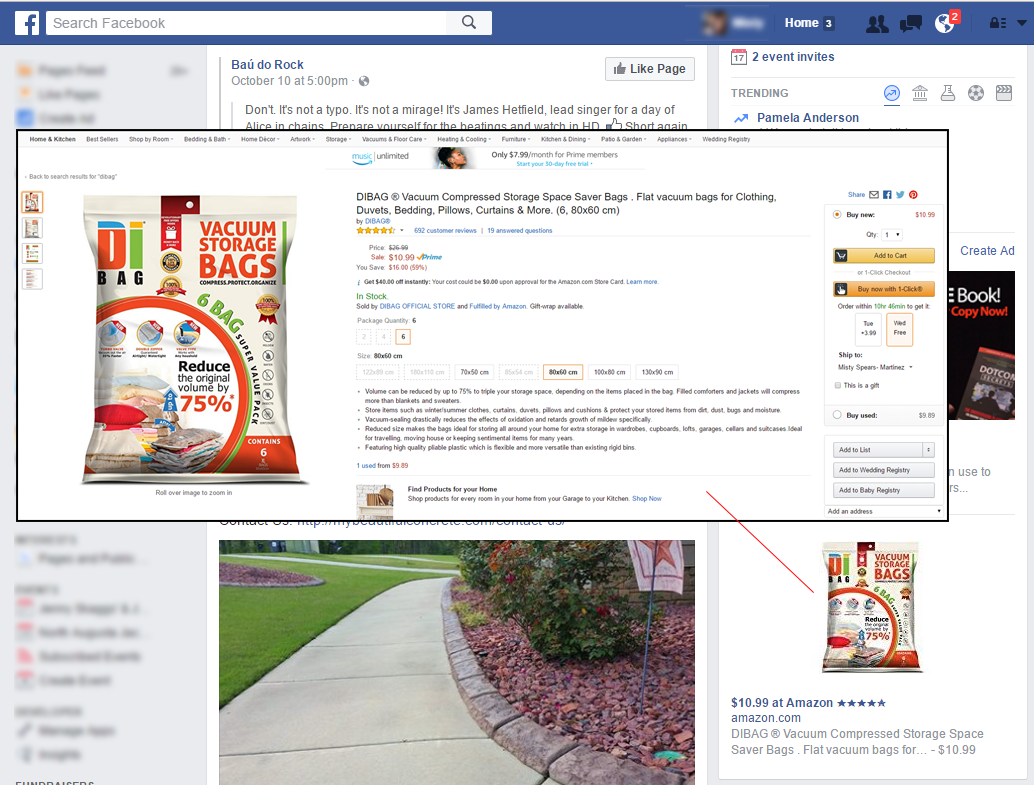 Amazon Retargeting on Facebook
