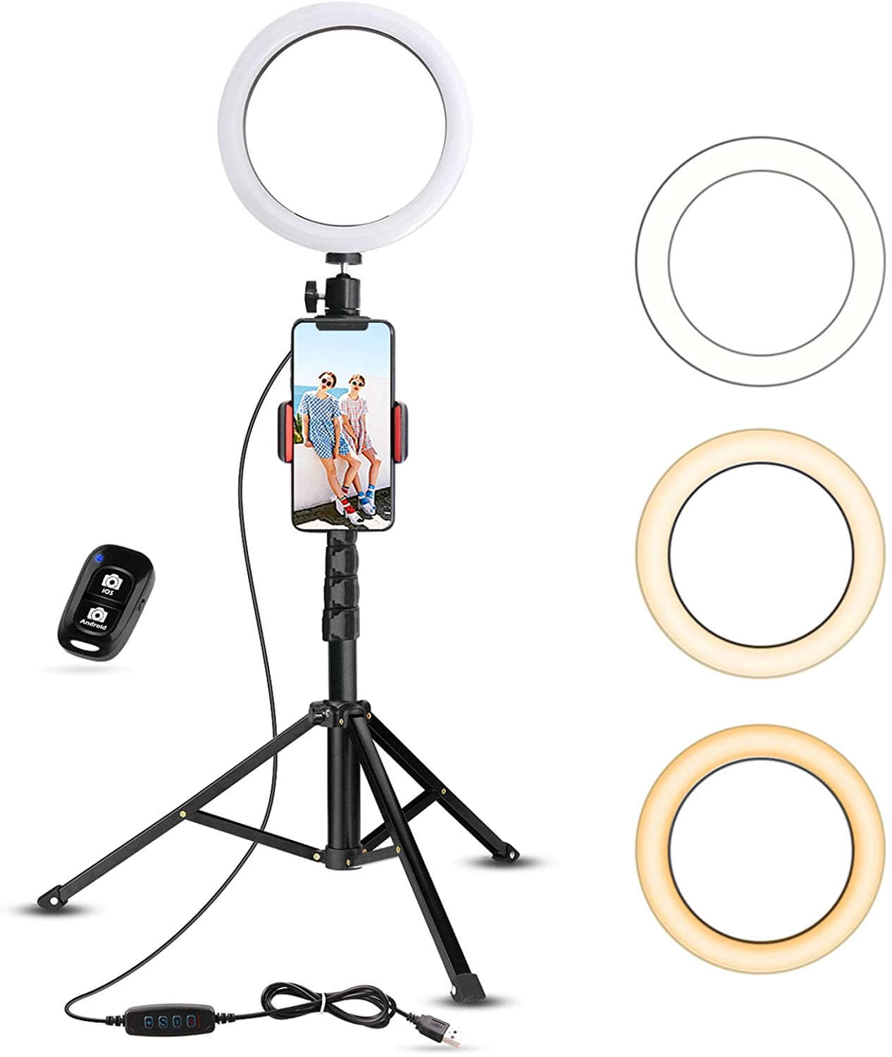 Selfie Ring Light with Tripod Stand - 2020 Holiday Gift List